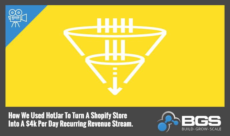 How We Used HotJar To Turn A Shopify Store Into A $4k Per Day Recurring Revenue Stream
